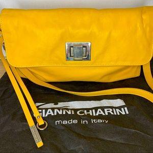 Gianni Chiarini yellow leather bag - wear 3 ways